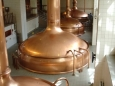 Copper beer brewery